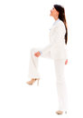 Business woman stepping up isolated over white background Stock Photography