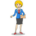 Business Woman style design character