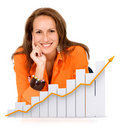 Business woman - success Royalty Free Stock Photo