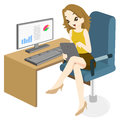Business woman surfing at office