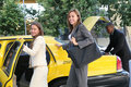 Business Woman in Taxi Royalty Free Stock Photo