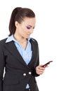 Business woman texting Stock Photos