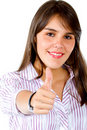 Business woman with thumbs up Royalty Free Stock Photos