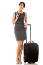 Business woman traveling Stock Photography