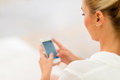 Business woman using smart phone Royalty Free Stock Photo