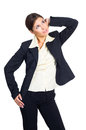 Business woman waiting Royalty Free Stock Photos