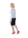 Business woman walk back isolated Royalty Free Stock Photos