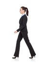 Business woman is walking Stock Photo