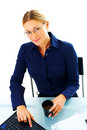 Business woman working Royalty Free Stock Photo