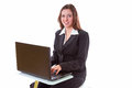 Business woman working on the laptop Royalty Free Stock Photography