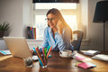 Business woman working at office Royalty Free Stock Photo