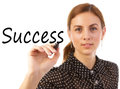 Business Woman Writing Success Royalty Free Stock Photo