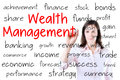 Business woman writing wealth management concept. Royalty Free Stock Photo