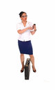 Business women dialling. Royalty Free Stock Photo