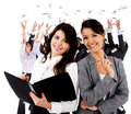 Business women with a group Royalty Free Stock Photo