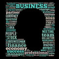 Business word cloud related head illustration Royalty Free Stock Photos