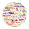 Business word cloud related illustration Royalty Free Stock Images