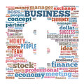 Business word cloud related illustration dollar symbol Royalty Free Stock Images