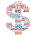 Business word cloud related illustration dollar symbol Royalty Free Stock Photos