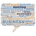 Business word cloud related illustration speech bubble Royalty Free Stock Image
