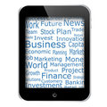 Business words on tablet pc screen Royalty Free Stock Images