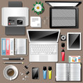 Business workplace Top view work Accessories