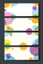 Businesscard template with colorful circles