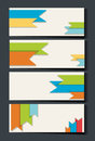 Businesscard template with colorful ribbons in background