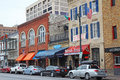 Businesses along historic th street in downtown austin texas bars restaurants and other the sixth district a major tourist Royalty Free Stock Photography