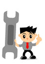Businessman activity illustration graphic of cartoon character in Stock Photography