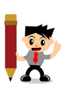 Businessman activity illustration graphic of cartoon character in Stock Photo