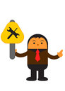 Businessman in activity illustration graphic cartoon character of Stock Image