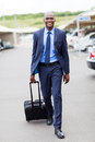 Businessman airport parking Royalty Free Stock Photography