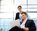 Businessman and associate Stock Image