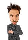Businessman with big head handsome on white background Royalty Free Stock Photo