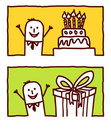 Businessman & birthday Royalty Free Stock Photography