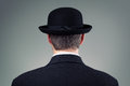 Businessman in bowler hat Royalty Free Stock Photo