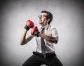 Royalty Free Stock Photo Businessman boxing