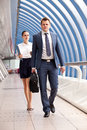 Businessman and businesswoman Royalty Free Stock Photo