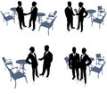 Businessman and businesswoman meeting Royalty Free Stock Photos