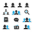 Businessman businesswoman user  icons set Royalty Free Stock Image
