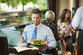 Businessman in cafe Royalty Free Stock Photo