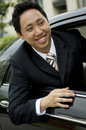 Businessman In Car Royalty Free Stock Photography