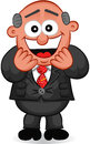 Businessman cartoon boss man laughing Royalty Free Stock Photos