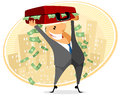 Businessman with case of money vector illustration a Royalty Free Stock Images