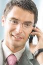 Businessman cellphone Στοκ Εικόνα