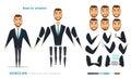 Businessman character animation