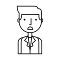 Businessman character isolated icon