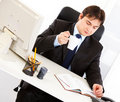 Businessman checking timetable in diary Royalty Free Stock Photos