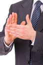 Businessman clapping his hands business man Royalty Free Stock Photography